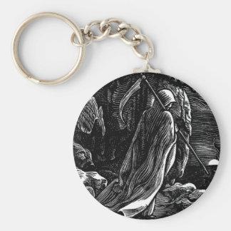 Santa Muerte (Mexican Grim Reaper) circa 1939 Basic Round Button Keychain