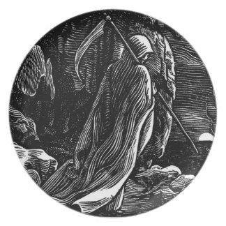 Santa Muerte (Mexican Grim Reaper) circa 1939 Dinner Plate