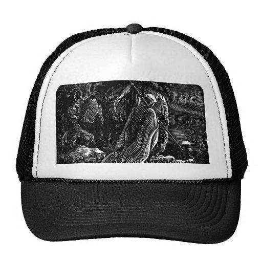 Santa Muerte (Mexican Grim Reaper) circa 1939 Mesh Hat