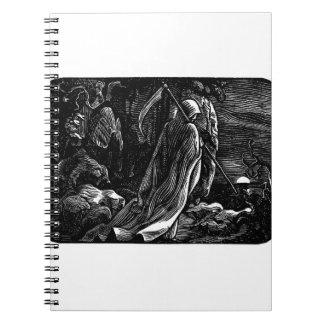 Santa Muerte (Mexican Grim Reaper) circa 1939 Notebook