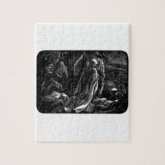 Santa Muerte (Mexican Grim Reaper) circa 1939 Puzzle