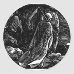Santa Muerte (Mexican Grim Reaper) Classic Round Sticker