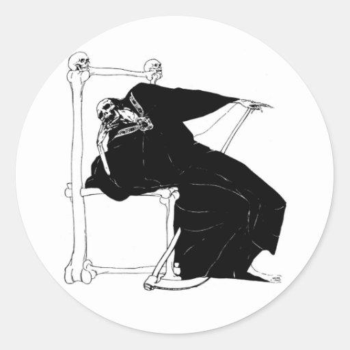 """Santa Muerte"" (Mexican Grim Reaper) Classic Round Sticker"