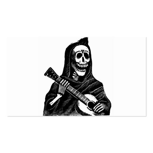 Santa Muerte (Mexican Grim Reaper) Playing Guitar Business Card