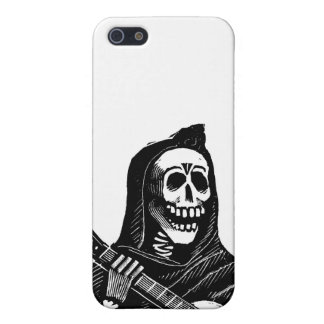 Santa Muerte (Mexican Grim Reaper) Playing Guitar iPhone SE/5/5s Case