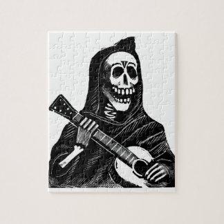 Santa Muerte (Mexican Grim Reaper) Playing Guitar Puzzles