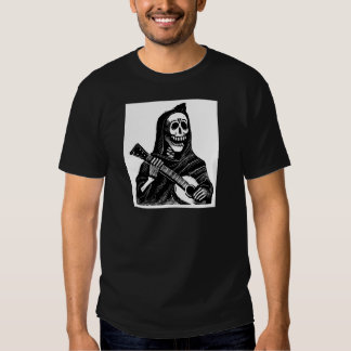 Santa Muerte (Mexican Grim Reaper) Playing Guitar Tees