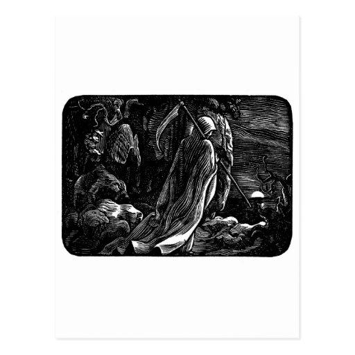 Santa Muerte (Mexican Grim Reaper) Postcard