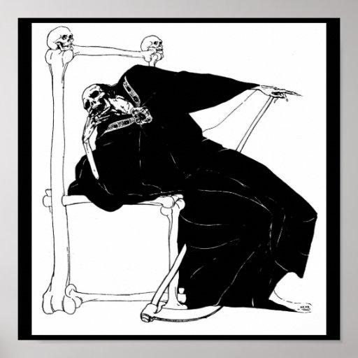 """""""Santa Muerte"""" (Mexican Grim Reaper) Posters"""