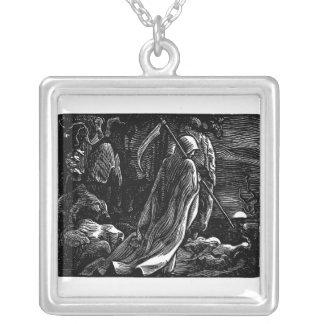 Santa Muerte (Mexican Grim Reaper) Silver Plated Necklace