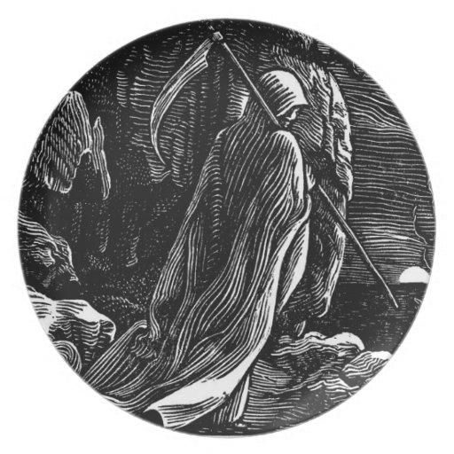 Santa Muerte (parca mexicano) circa 1939 Platos