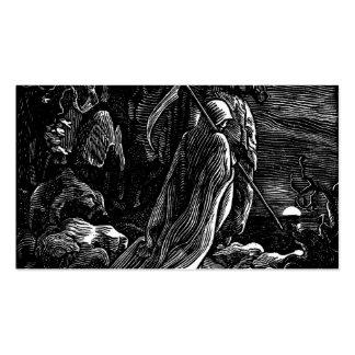 Santa Muerte (parca mexicano) circa 1939 Tarjetas De Visita