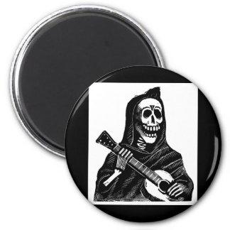 Santa Muerte (parca mexicano) que toca la guitarra Imán De Frigorifico