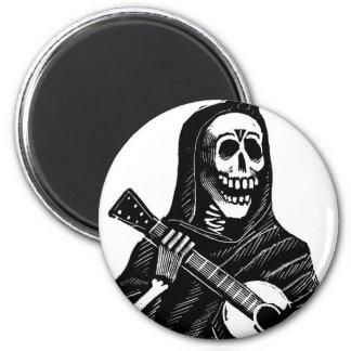 Santa Muerte (parca mexicano) que toca la guitarra Imán De Frigorífico