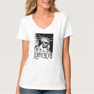 Santa Muerte Statue of Liberty T-Shirt