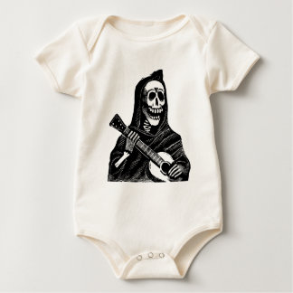 Santa Muerte with Guitar circa early 1900s Baby Bodysuit