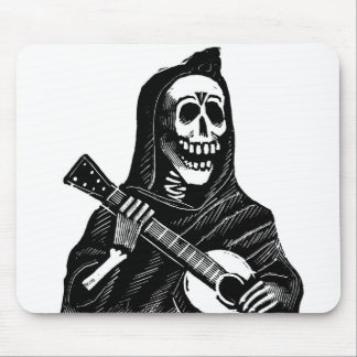 Santa Muerte with Guitar circa early 1900s Mouse Pad