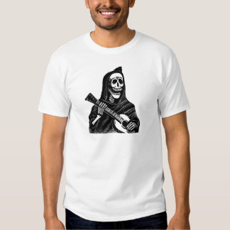 Santa Muerte with Guitar circa early 1900s T Shirt