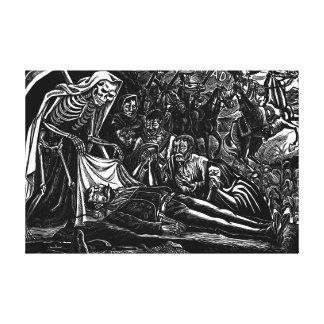 Santa Muerte y el soldado C. México 1951 Impresiones En Lienzo Estiradas