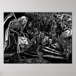 Santa Muerte y el soldado C. México 1951 Impresiones