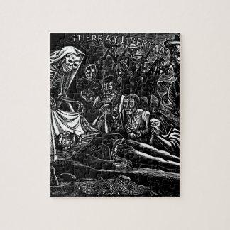 Santa Muerte y el soldado C. México 1951 Rompecabeza Con Fotos