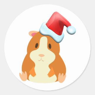 Santa Muffin Stickers