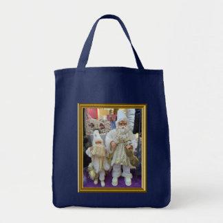 Santa musicians tote bag