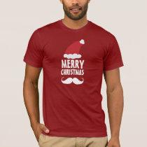 Santa Mustache Merry Christmas Shirt