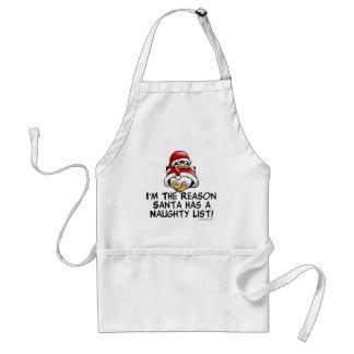 Santa Naughty List Adult Apron