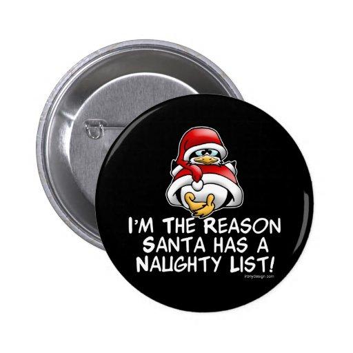 Santa Naughty List Pins