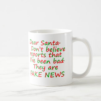 Santa Naughty List Fake News Mugs Cups