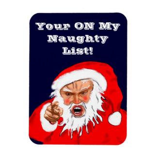 Santa Naughty List Magnet