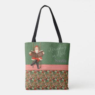 Santa Naughty or Nice Tote Bag