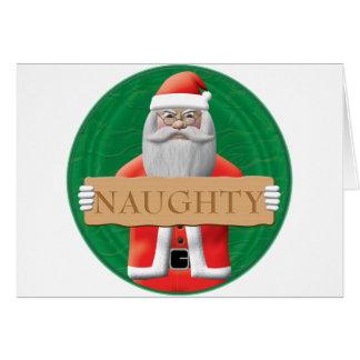 Santa - Naughty Sign Card