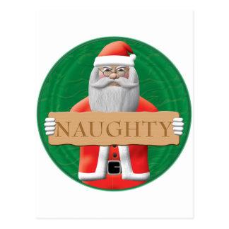 Santa - Naughty Sign Postcard