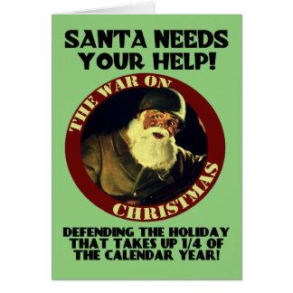Santa necesita su ayuda/guerra en la tarjeta de