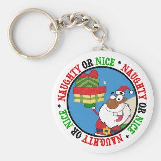 Santa negro con los regalos llavero personalizado