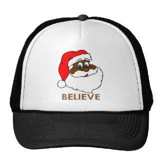 Santa negro gorras