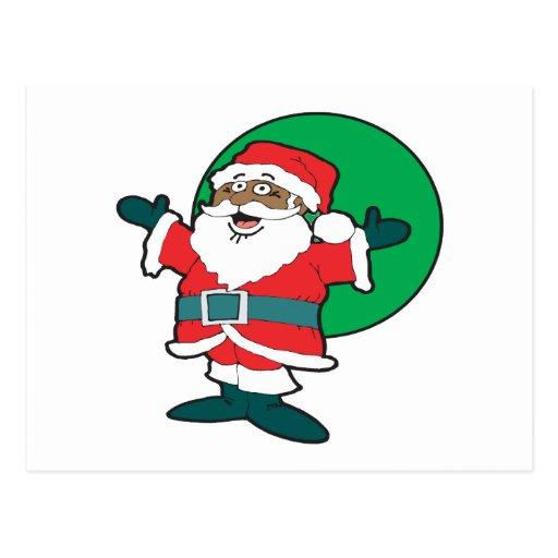 Santa negro postales