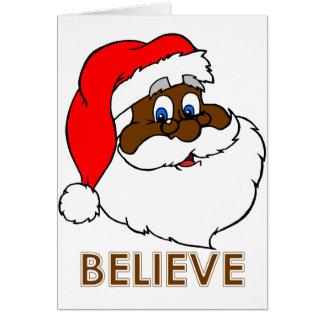 Santa negro tarjeta de felicitación