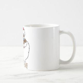 Santa negro taza