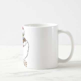 Santa negro taza clásica