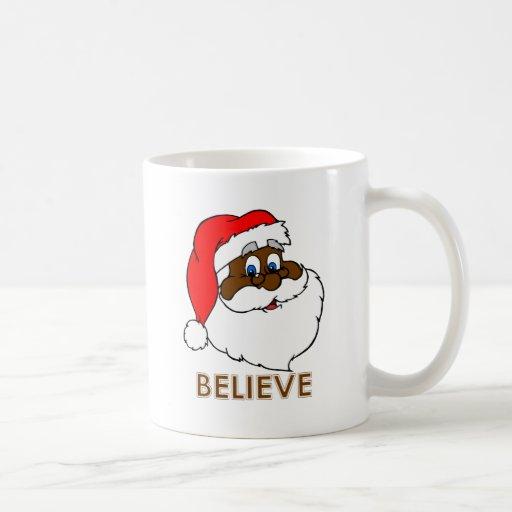 Santa negro taza de café