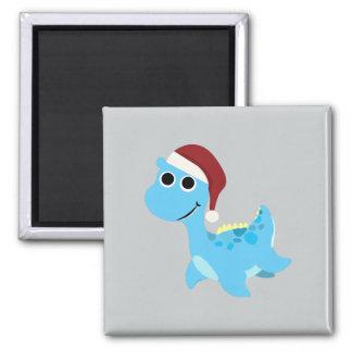 Santa Nessie 2 Inch Square Magnet