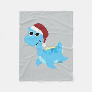 Santa Nessie Fleece Blanket