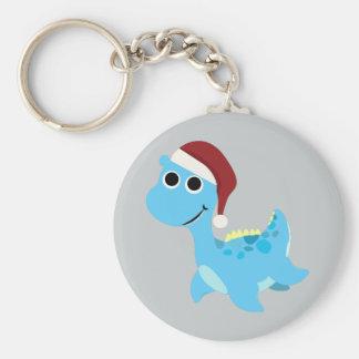Santa Nessie Keychain