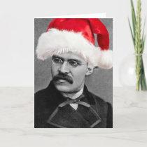 Santa Nietzsche funny atheist Christmas card