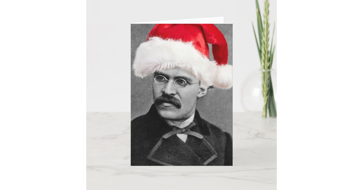 Santa Nietzsche funny atheist Christmas card | Zazzle.com