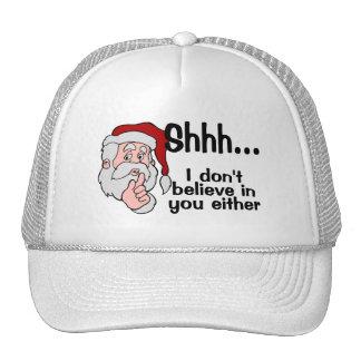 Santa no cree en usted tampoco gorros bordados