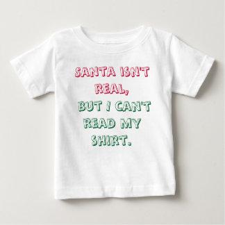 Santa no es camisa real del bebé